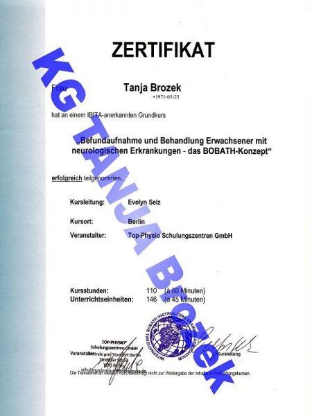 BOBATH Zertifikat