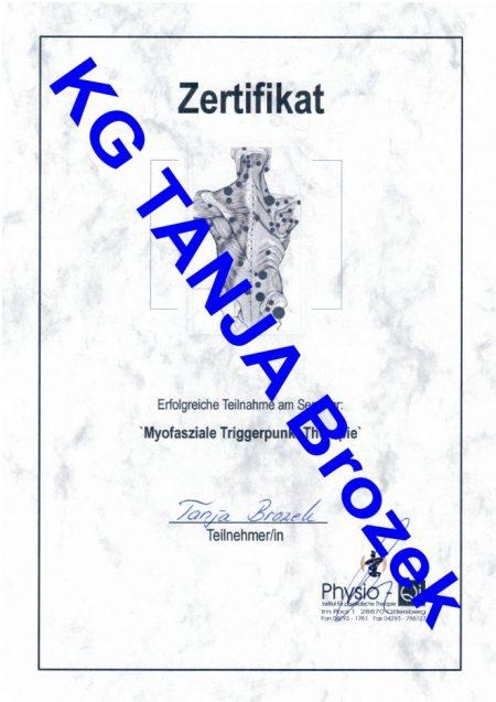 Myofasziale Triggerpunkt Therapie Zertifikat